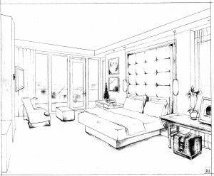Rendering Master Bedroom Sketch And Render In 2019 Bedroom