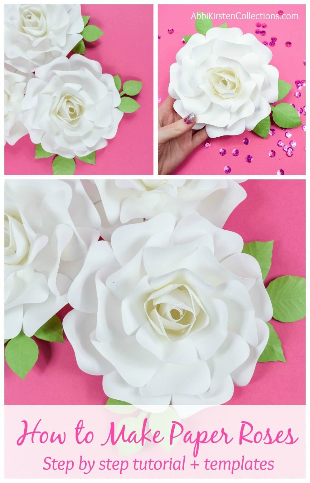 Diy Paper Rose Tutorial How To Make Small Paper Roses The Best