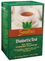 Sandhu's Diabetic Tea by Sandhu. $8.99. Traditional Use: Gymnema Sylvestre has been used in India for the treatment of diabetes for over 2,000 years. The primary application was for adult-onset diabetes (NIDDM), a condition for which it continues to be recommended today in India. The leaves are also used for stomach ailments, constipation, water retention, and liver disease. It is found that Camellia Sinensis provides synergy to the benefits of Gymnema Sylvest...