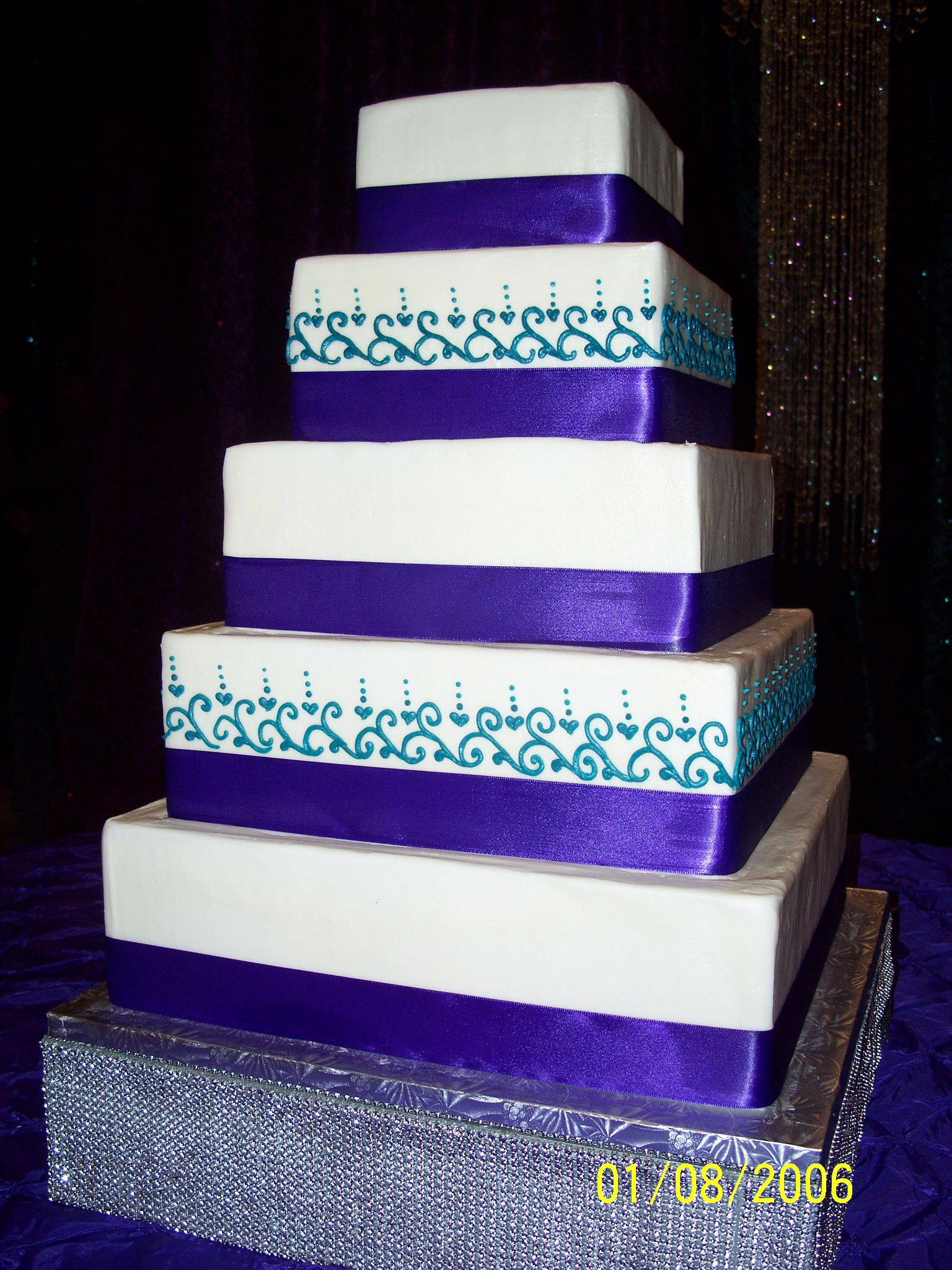 Purple and Teal Wedding Cake Cakes Pinterest