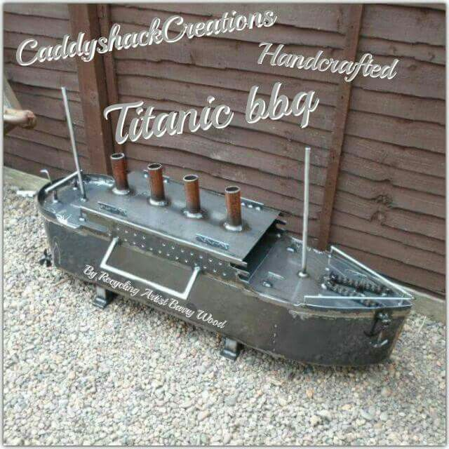 World S First Titanic Bbq Firepit Wood Burner Created By The Overly Talented Scottish Blacksmith Barry Moveis De Ferro Churrasqueira Espetinho Ferro Forjado