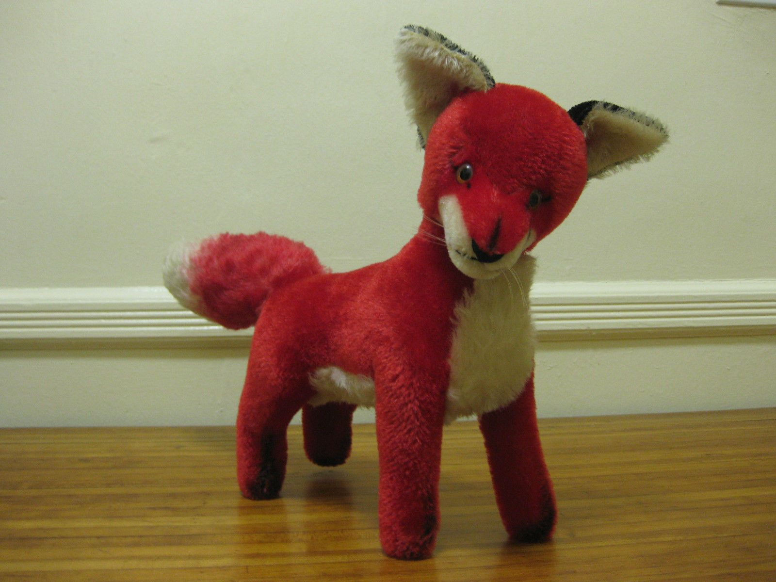 1960 toys images  Vintage Steiff red mohair Fuchs FOX  FAO Schwarz NYC jointed