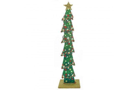 Nicole Crafts Glittered Lighted Wood Tree Halloween Wood Crafts Wooden Christmas Trees Wood Christmas Tree