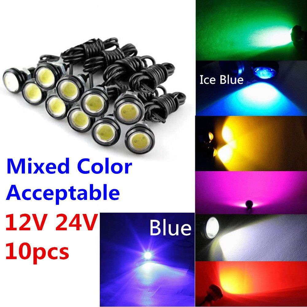9w 12v 24v 18mm 23mm Led Eagle Eye Light Car Fog Drl Daytime Reverse Parking Signal Yellow Amber Pink Green Ice B Reverse Parking Pink And Green Blue And White