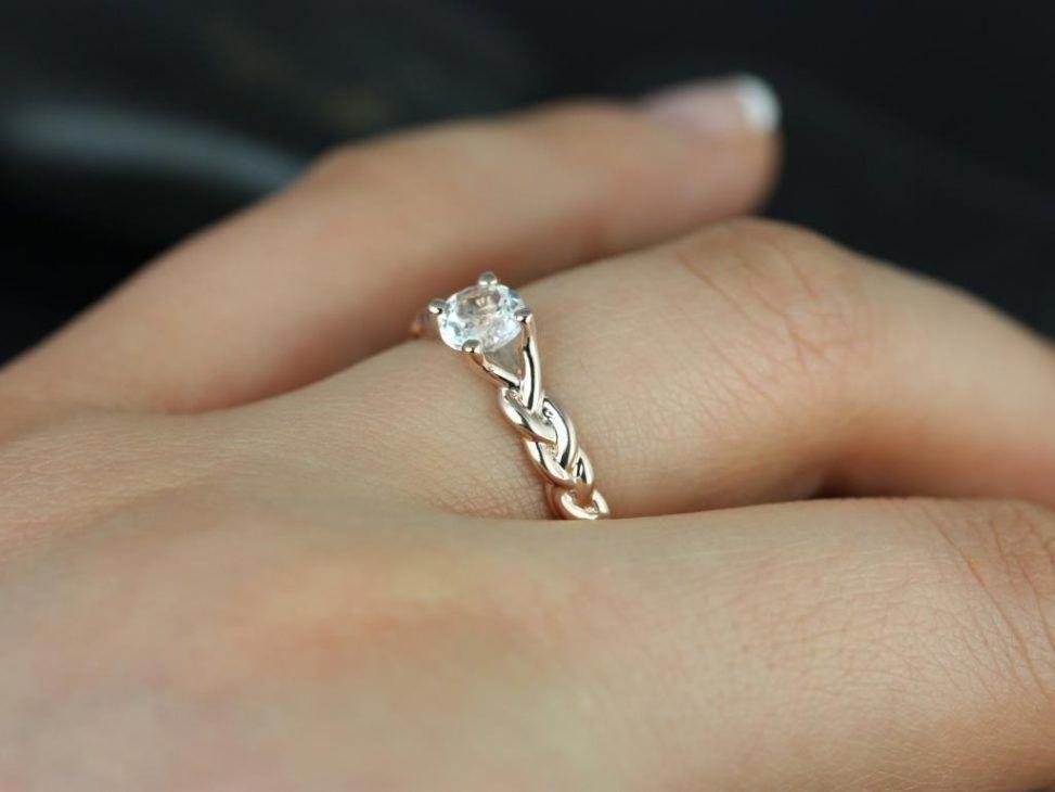 Outstanding three strand wedding ring also astonishing