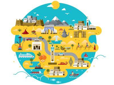 Morocco Map Design | Maps, Design and Morocco