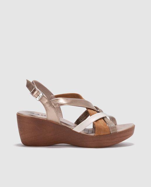 Zapatos beige 24 Horas para mujer uIsgtX