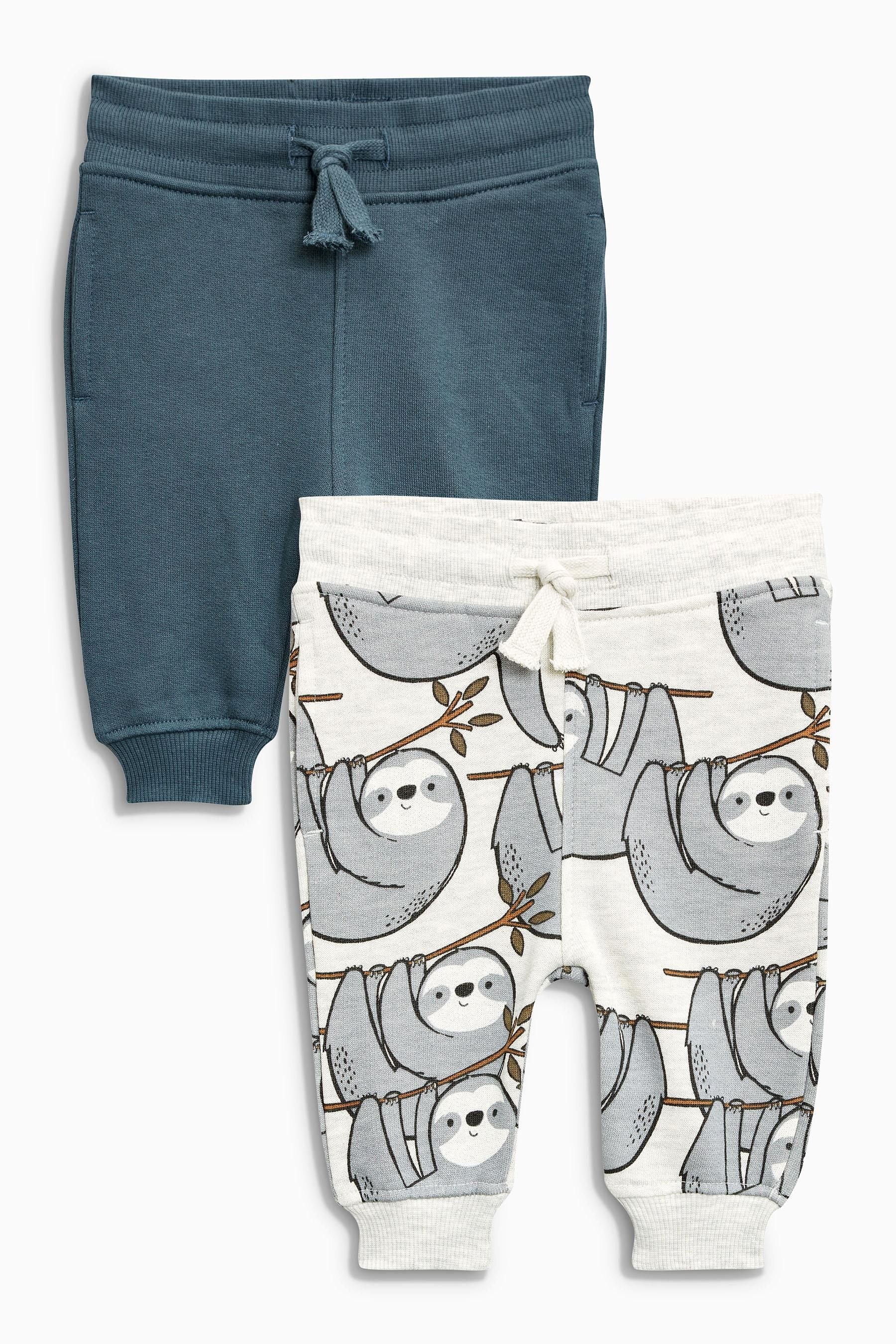 0c52e93883d6 Buy Grey Sloth All-Over-Print Joggers Two Pack (3mths-6yrs) from the ...