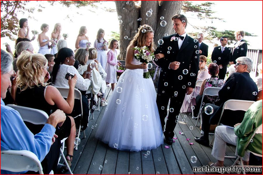 Hand Out Bubbles To The Guest For End Of Ceremony