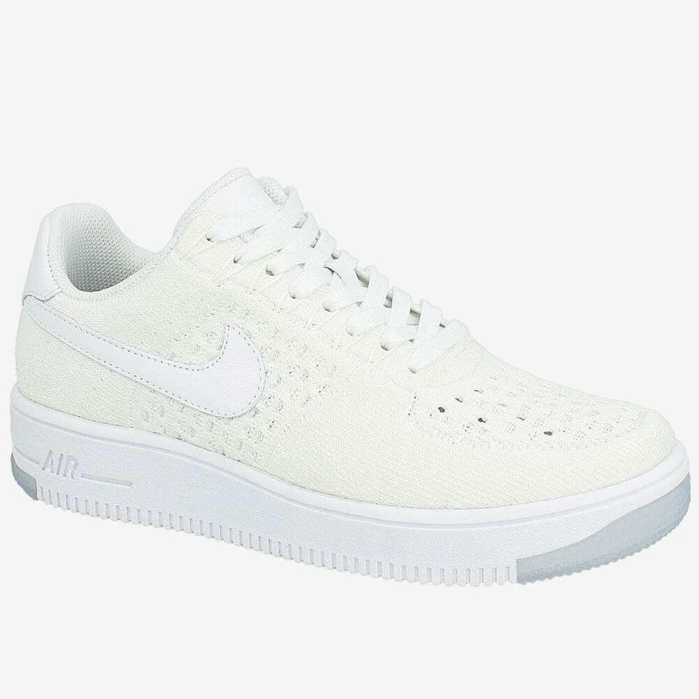 Nike Air Force 1 Flyknit Low 820256 101 Triple White Nike Runningshoes Nike Air Force Nike Sneakers Nike
