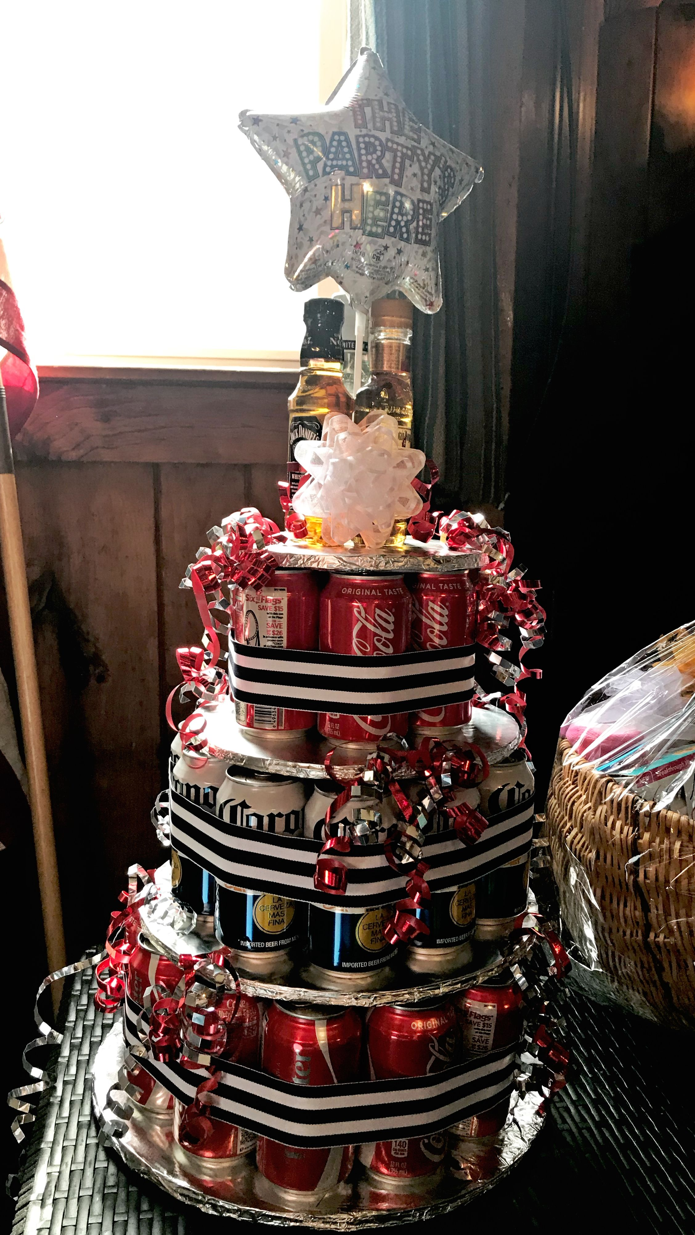 Beer can cake loved this jack and jill raffle jack and