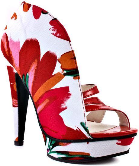 Michael Antonio Taft - Red Floral  Wow!