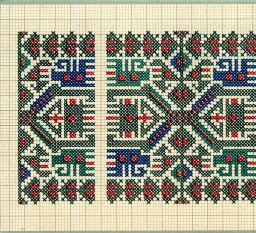 Embroidery samples, Vrlika, Croatia (former Yugoslavia), circa 1930 ...