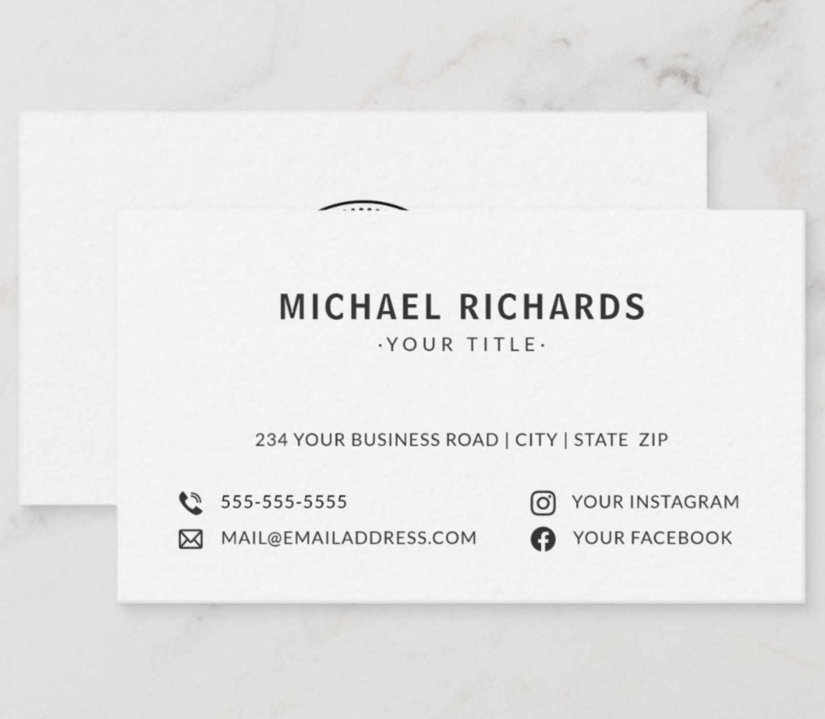 Pin On White Business Cards
