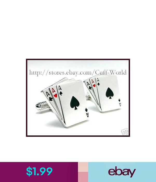 3 Card Poker 3 Aces Card Cuff Links Cufflinks C 131 Ace Card Cards Poker