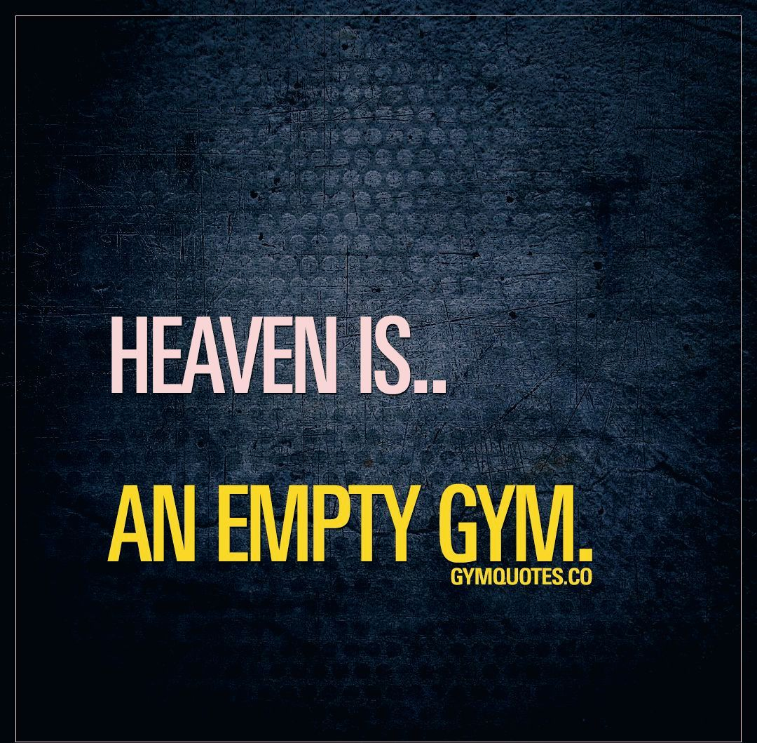Heaven is.. An empty gym. 🙌 No waiting for weights or machines.. No overcrowded gym.. Just you and t...