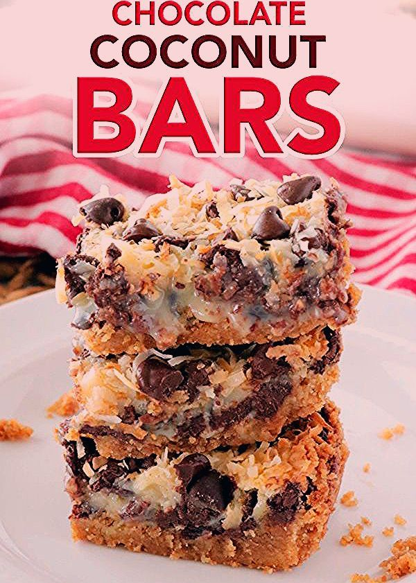 Chocolate Coconut Bars Recipe - The Anthony Kitchen