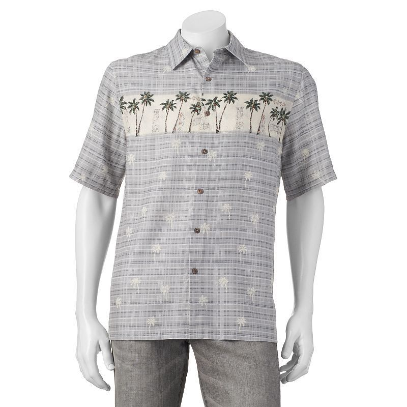 Men's Batik Bay Tropical Casual Button-Down Shirt, Size: Small ...
