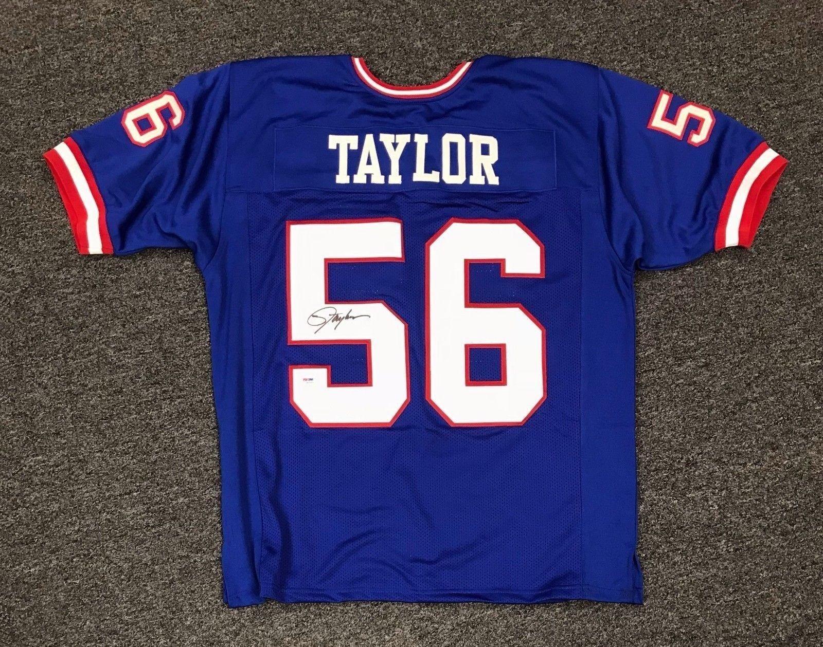 5a0a4967d06 6433 Lawrence Taylor  56 Signed NY Giants Jersey Autograph Sz XL PSA DNA COA