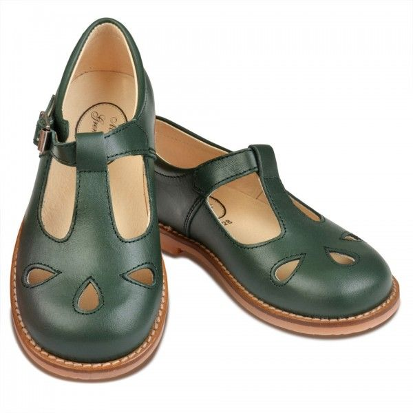 94d39c02059e Camille - Leather t-bar shoes - Menthe et Grenadine