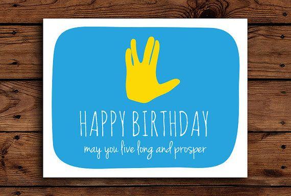 Star Trek Birthday Card Printable By Somebodylovedshop 2 00 Alles Gute Zum Geburtstag Zitate Lustig Lustige Geburtstagskarten Ideen Fur Geburtstagskarten