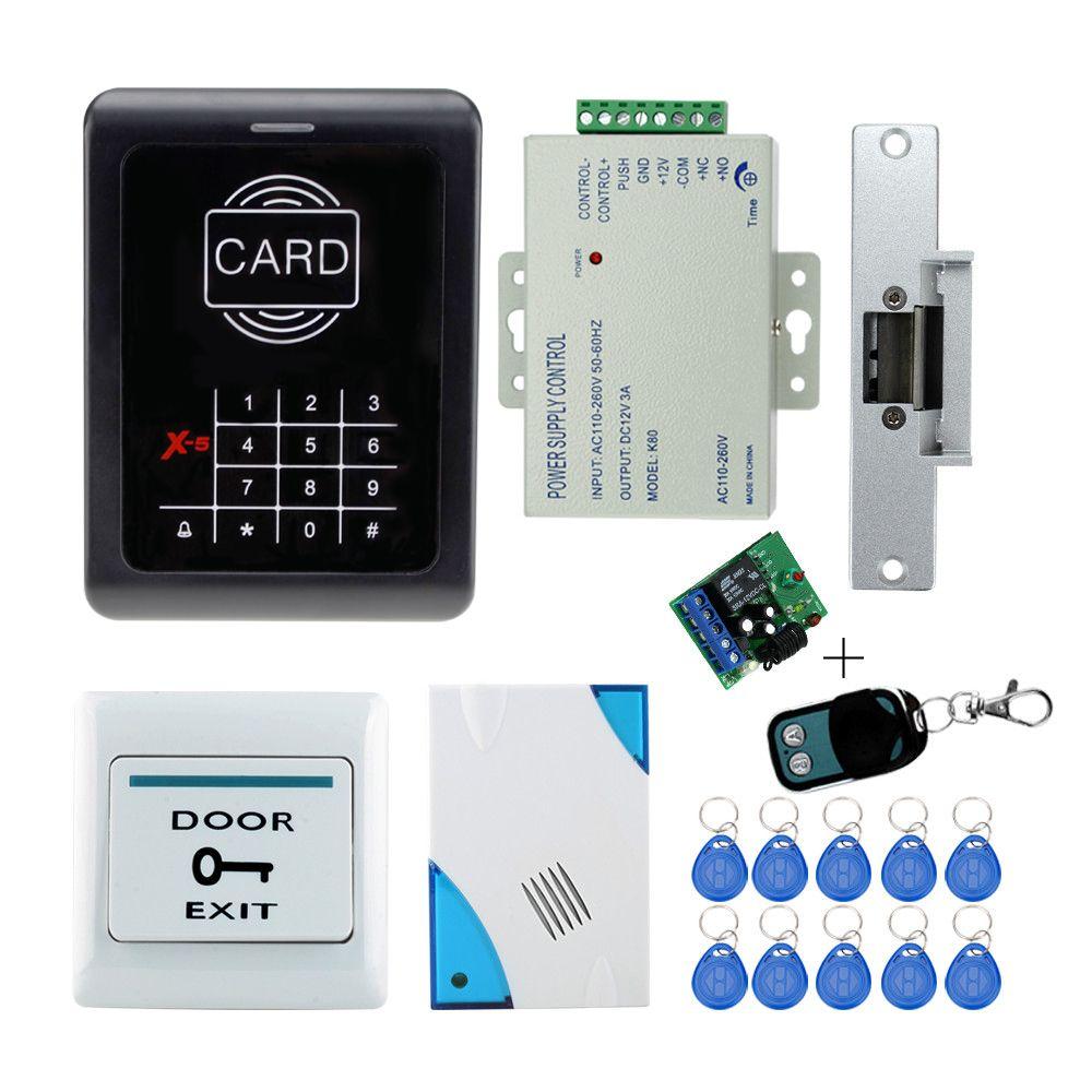 Door Fingerprint And Rfid Card Door Access Control System Kits Door Lock Power Supply Doorbell Id Card Rfid Access Control Access Control System Electric Lock