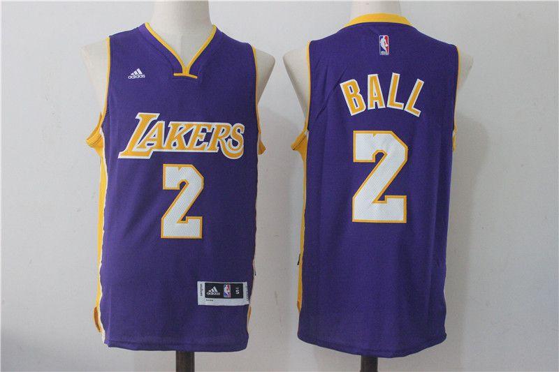 7449ce5ea Lakers 2 Lonzo Ball Purple Swingman Jersey Ben Simmons Jersey