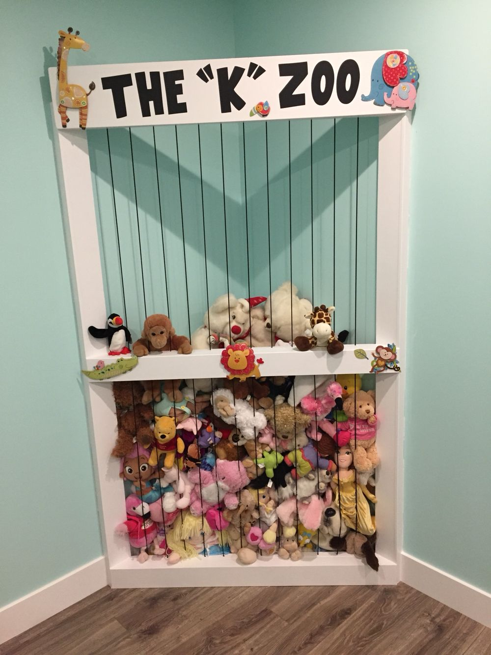 Stuffed Animal Toy Storage: Stuffy Zoo, Play Room, Bungee Cord, Cricut, Vinyl, Toy