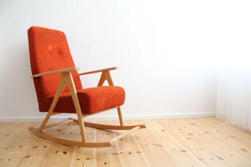 60er Jahre Mid Century Schaukelstuhl Rocking Chair WK