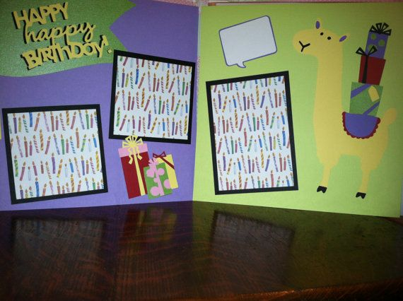 Happy Happy Birthday Pre Made 12 x 12 Double Page Layout
