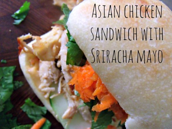 Asian chicken sandwich from mama mouse says
