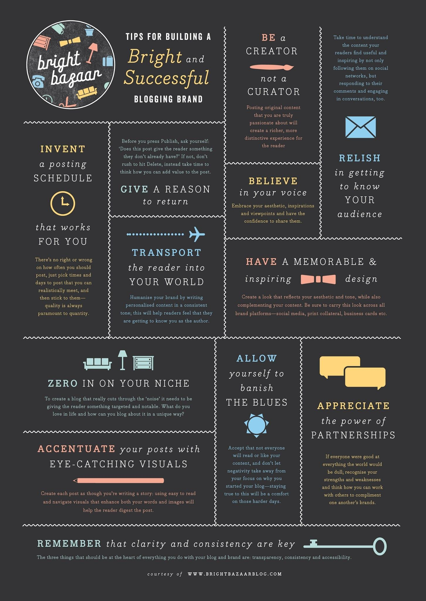 Tips For Building A Bright And Successful Blogging Brand [INFOGRAPHIC] digitalinformationworld.com