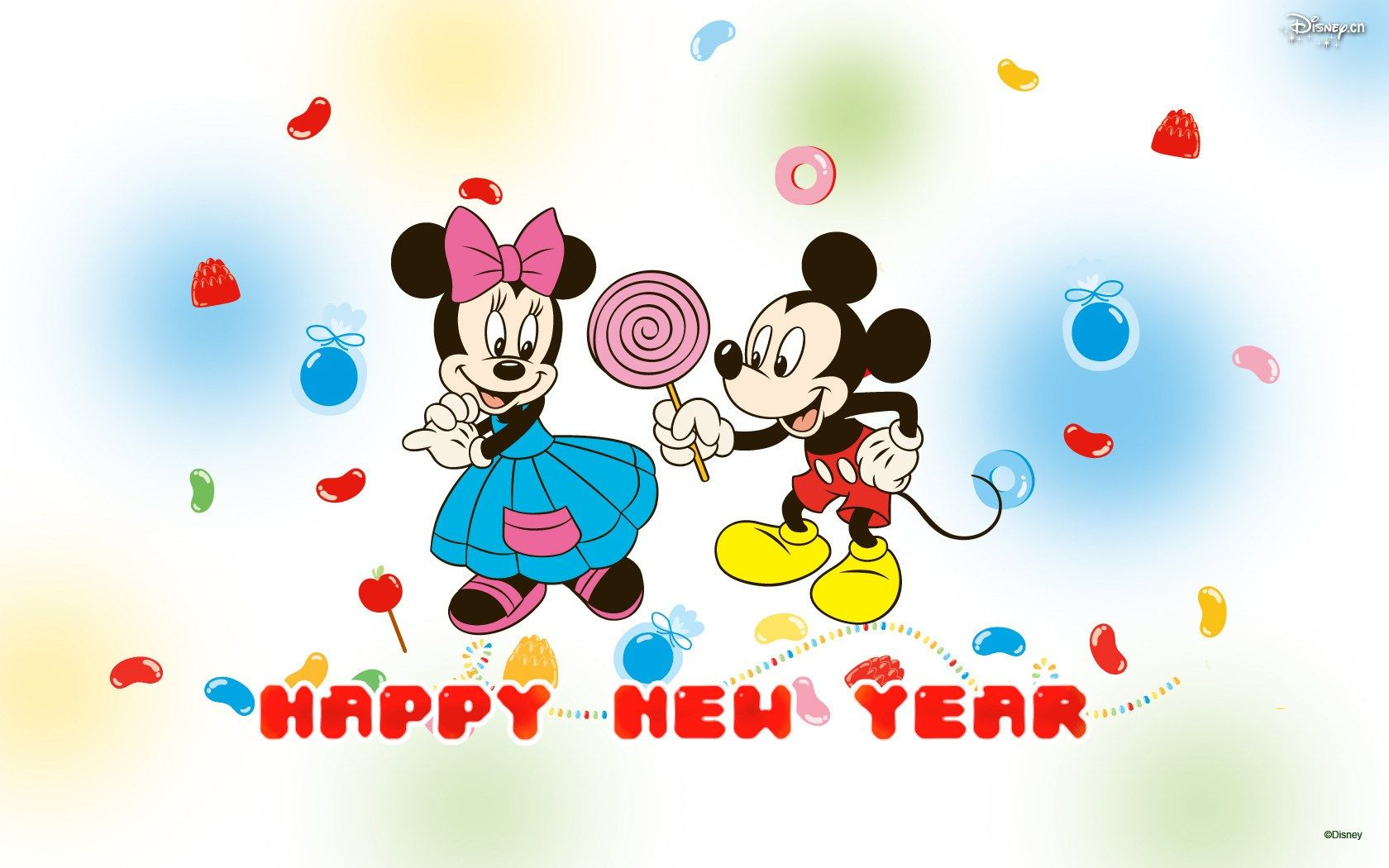 1657263 free desktop mickey mouse new year wallpaper