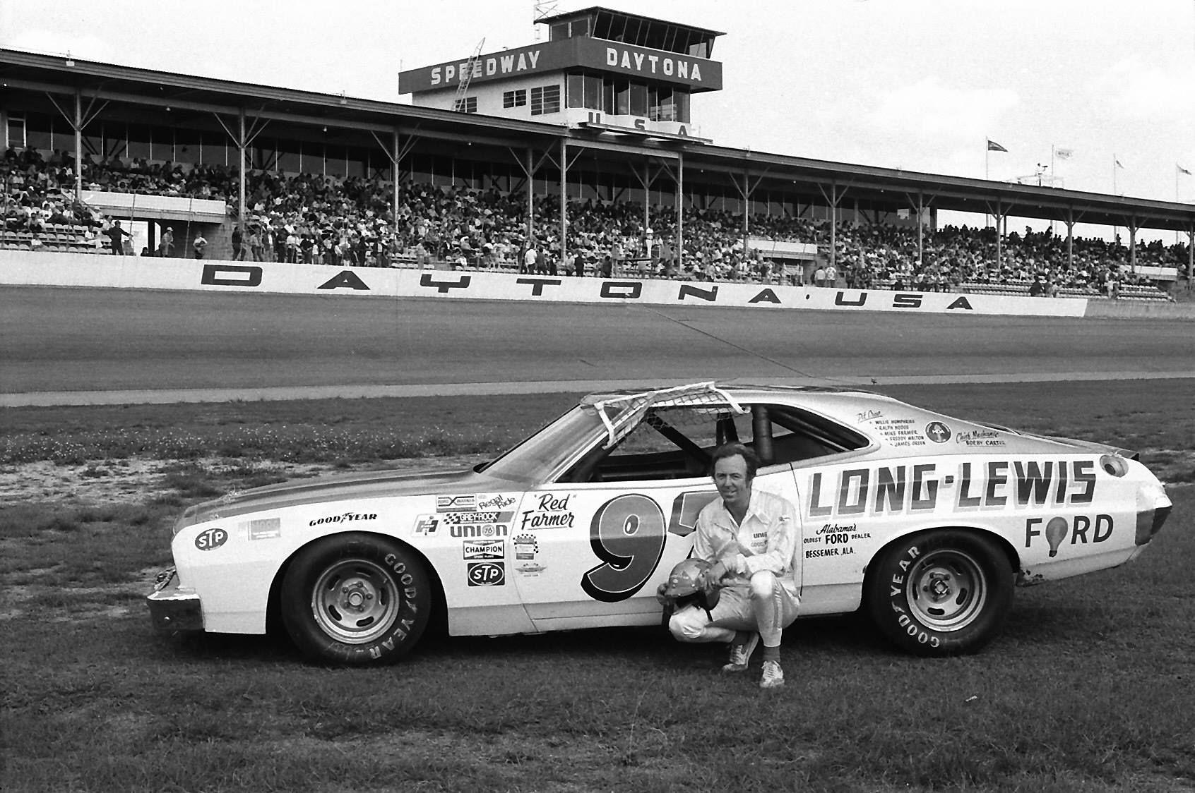 Red Farmer 1974 Daytona 500. 'Long-Lewis' 1973 Ford Gran ...
