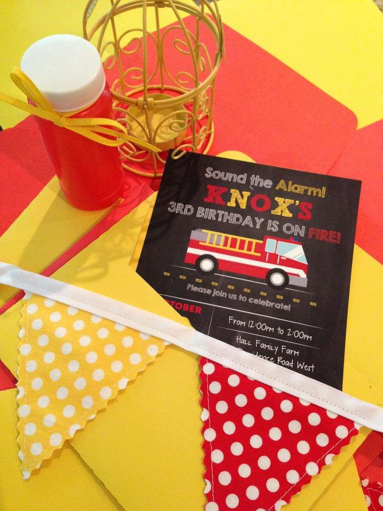 Fire Trucks Birthday Party Ideas | Firemen, Boy birthday and Party ...