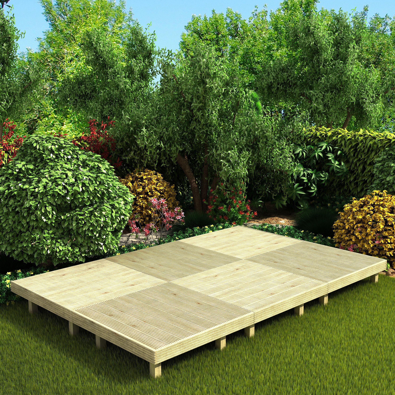 deck easy build softwood modular deck system kit 6. Black Bedroom Furniture Sets. Home Design Ideas