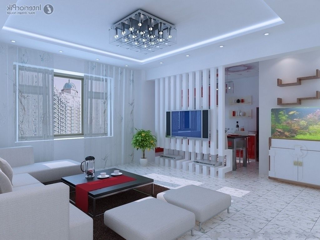 Simple Modern Ceiling Design For Living Room In The ...