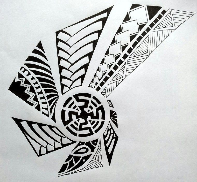 Dessin Tatouage Maorie tatouage maori tribal polynésien dessin tatouage art