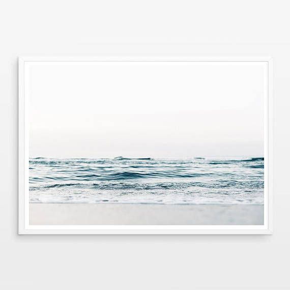 Ocean Print Ocean Wall Art Coastal Decor Ocean Art Sea Etsy Ocean Wall Art Ocean Art Wall Prints