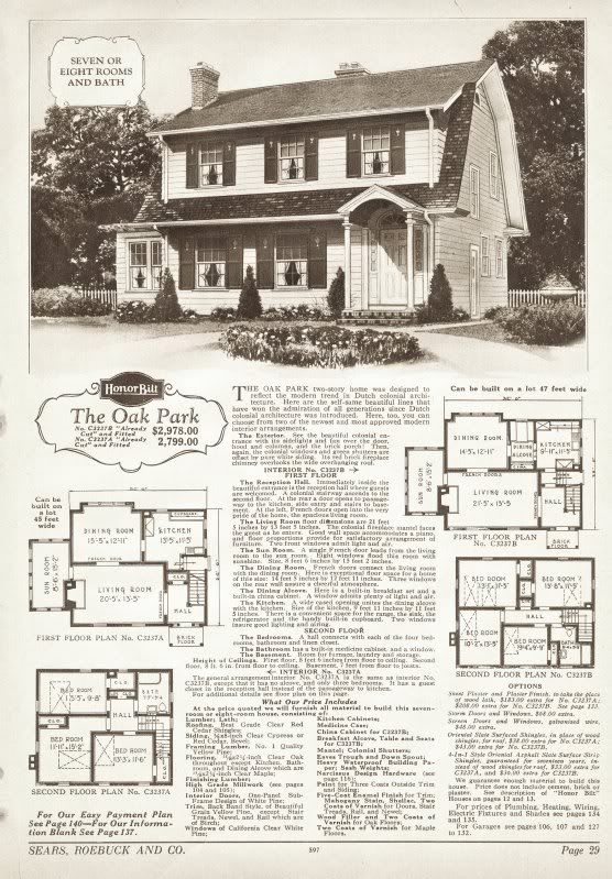 The Oak Park Is A Dutch Colonial Offered By Sears In The Late 1920s
