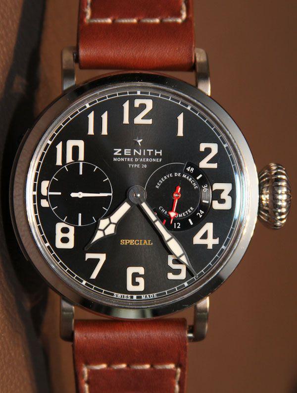 dba49597465b Zenith Pilot Montre d Aéronef Type 20 Watch Hands-on With Video    aBlogtoWatch