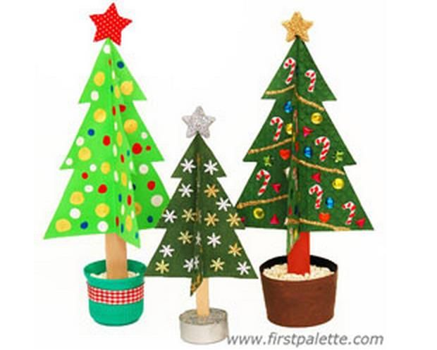 Christmas Time Craft Stick Christmas Trees Tutorial With Templates By First Palette A N Stick Christmas Tree Christmas Tree Crafts Christmas Crafts