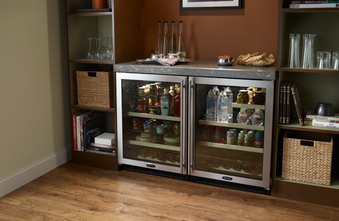 Marvel 24 Glass Door Beverage Center Refrigerator 6barm755 And