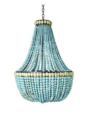 Turquoise bead chandelier turquoise timeless pinterest beaded turquoise bead chandelier aloadofball Images