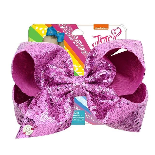 New Baby Girls JOJO Sequins Large Bowknot Rainbow Bows Hairpin Hair Pin Gift