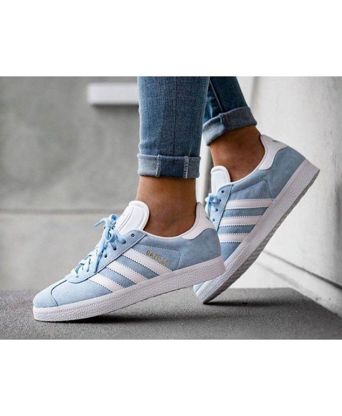 Adidas Gazelle Womens Trainers In Blue