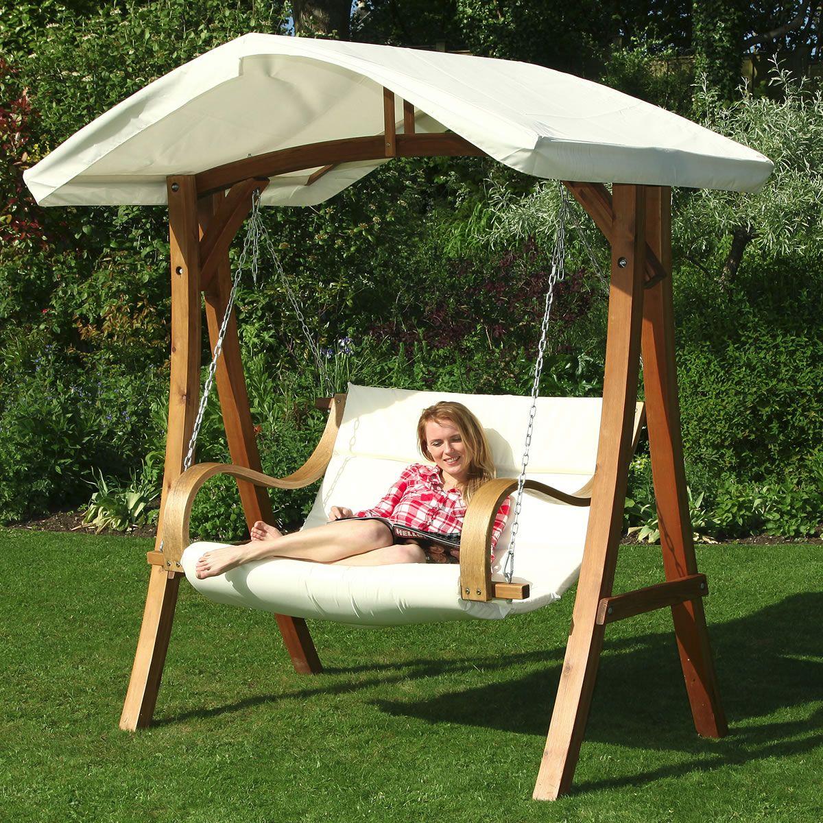 Garden With Swing Honeyman Luxurious 2 Seater Garden Swing