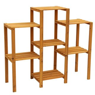 Cypress Wood 7-tier Plant Stand - Overstock™ Shopping - Great ...