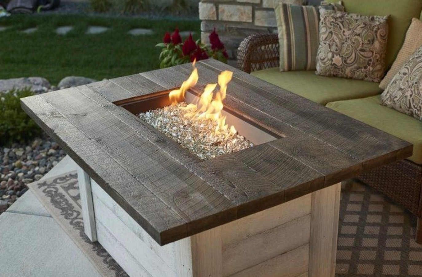 The Outdoor Greatroom Company Alc 1224 Alcott 48 Rectangular Gas Fire Pit Table Gas Fire Pits Outdoor Gas Fire Pit Table Natural Gas Fire Pit