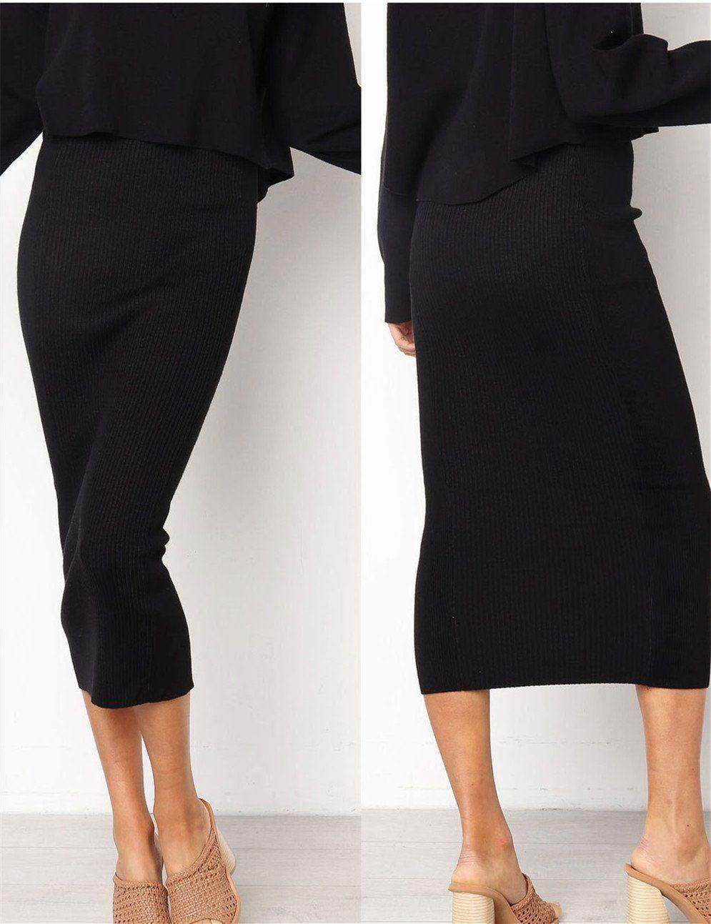 Ladies Asymmetric Wrap Over Bodycon Women Stretchy Pencil Fit Wiggle Midi Skirts